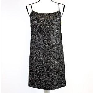 CeCe Black w/ Gold Glitter Bodycon Dress Size XS